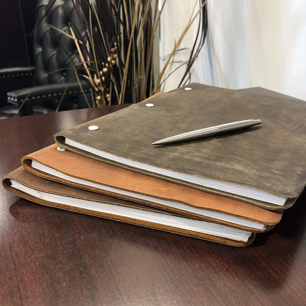 leather binder for writer