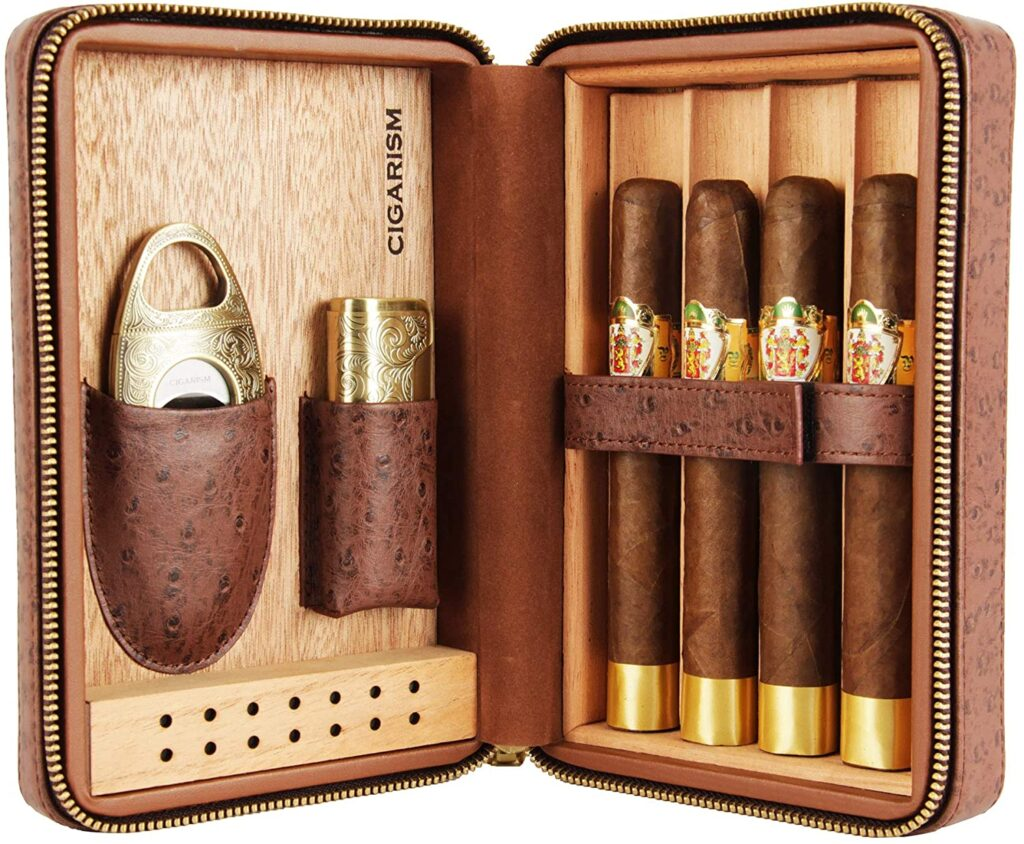 the best cigar humidor travel gift set