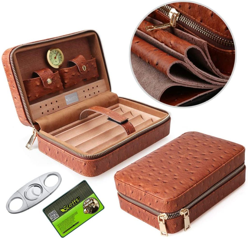 best portable travel cigar humidor case for under $50