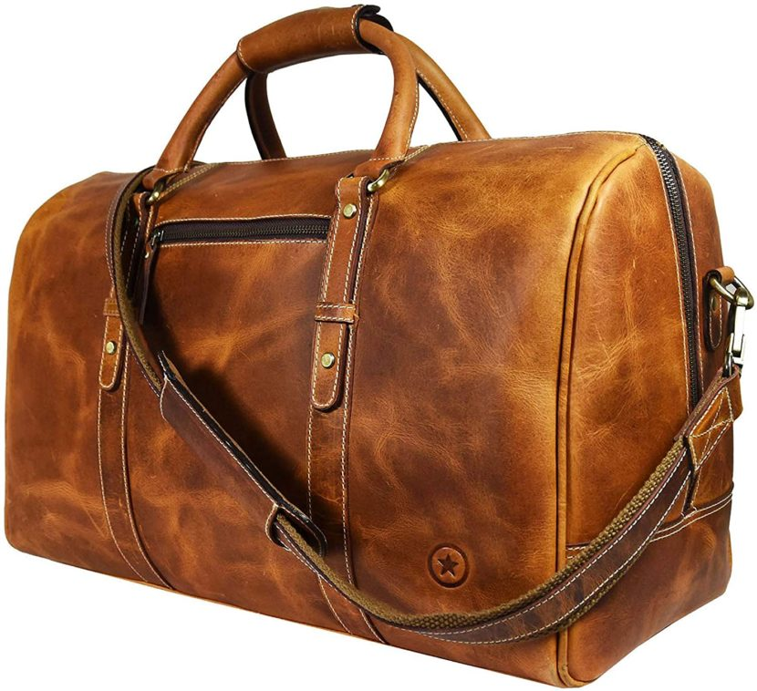 best handmade leather duffel bag for weekend trip