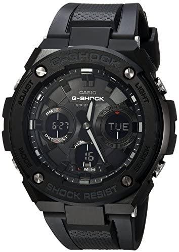 best black stainless-steel casio g-shock watch