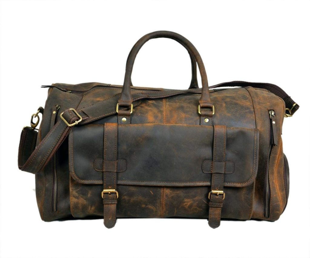 best medium leather duffel bag for traveling