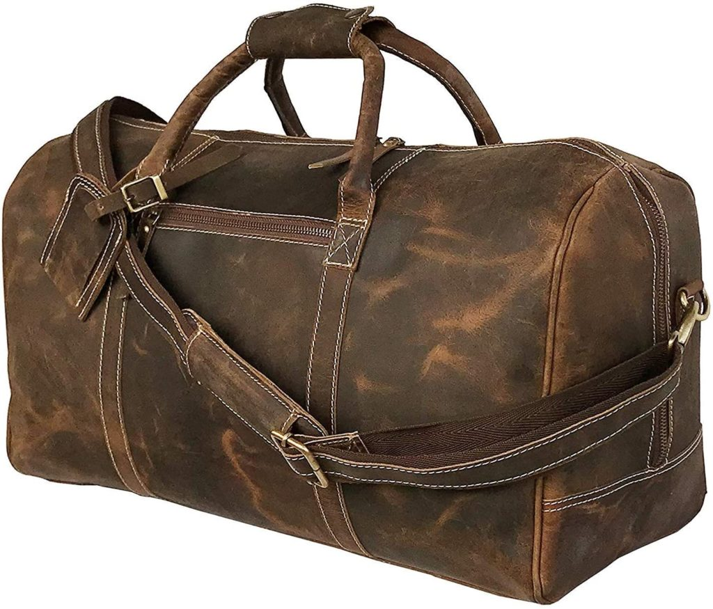 best leather duffel bag for weekend trips