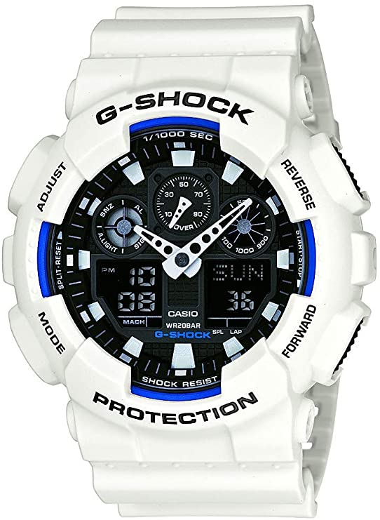 best white and blue g-shock for under $100