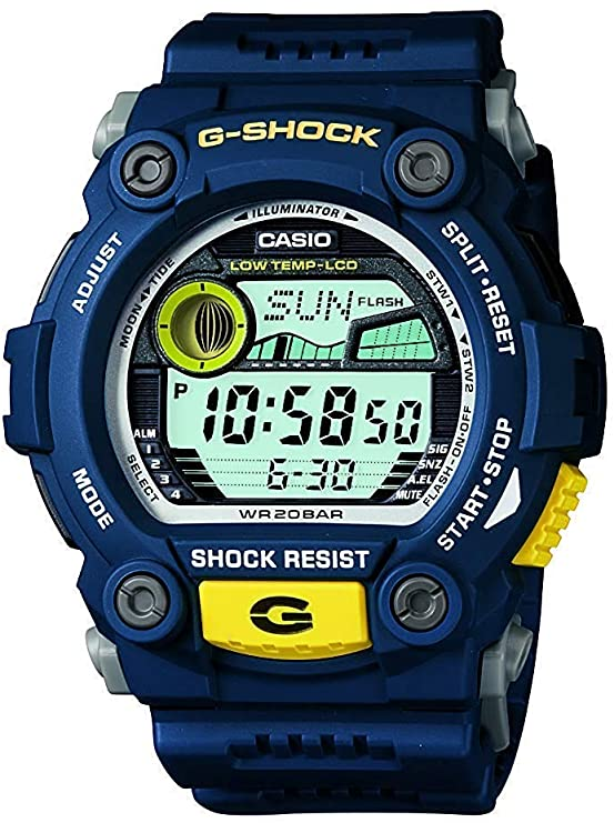 blue g-shock watches for men