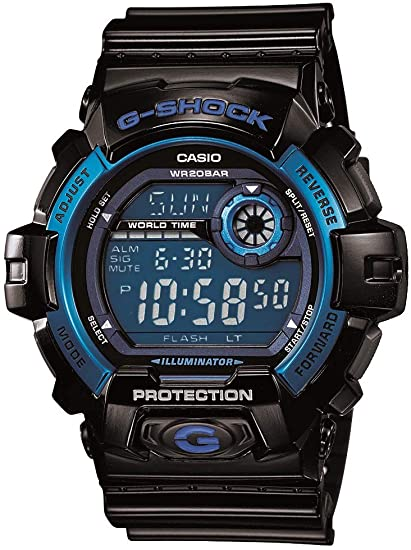 black and blue G-Shock