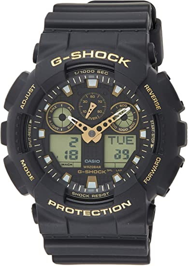 black and gold G-Shock watches for men