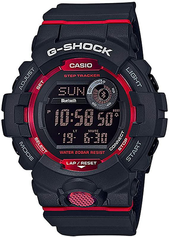 black and red G-Shock watches for men