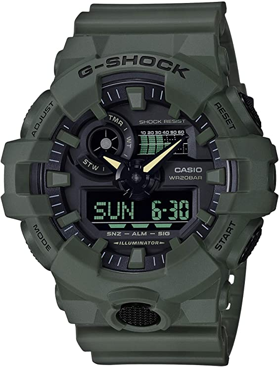 olive green G-Shock XL series