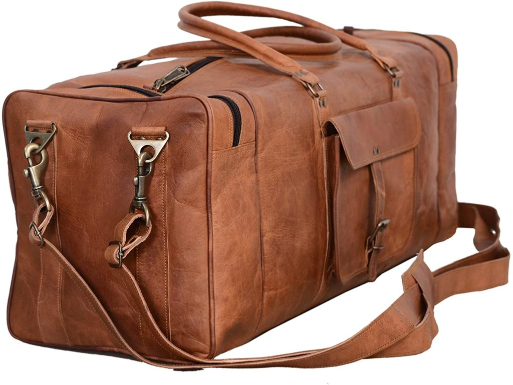 best large leather duffel bag