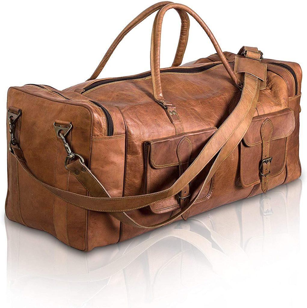 best leather duffel bag for men