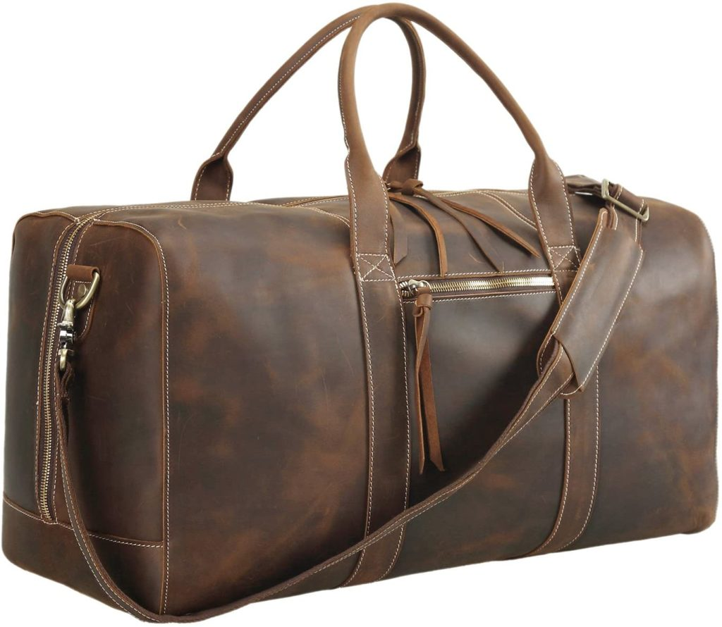 best leather overnight duffel bag