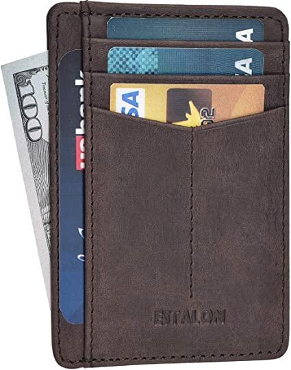 best leather minimalist wallet for men