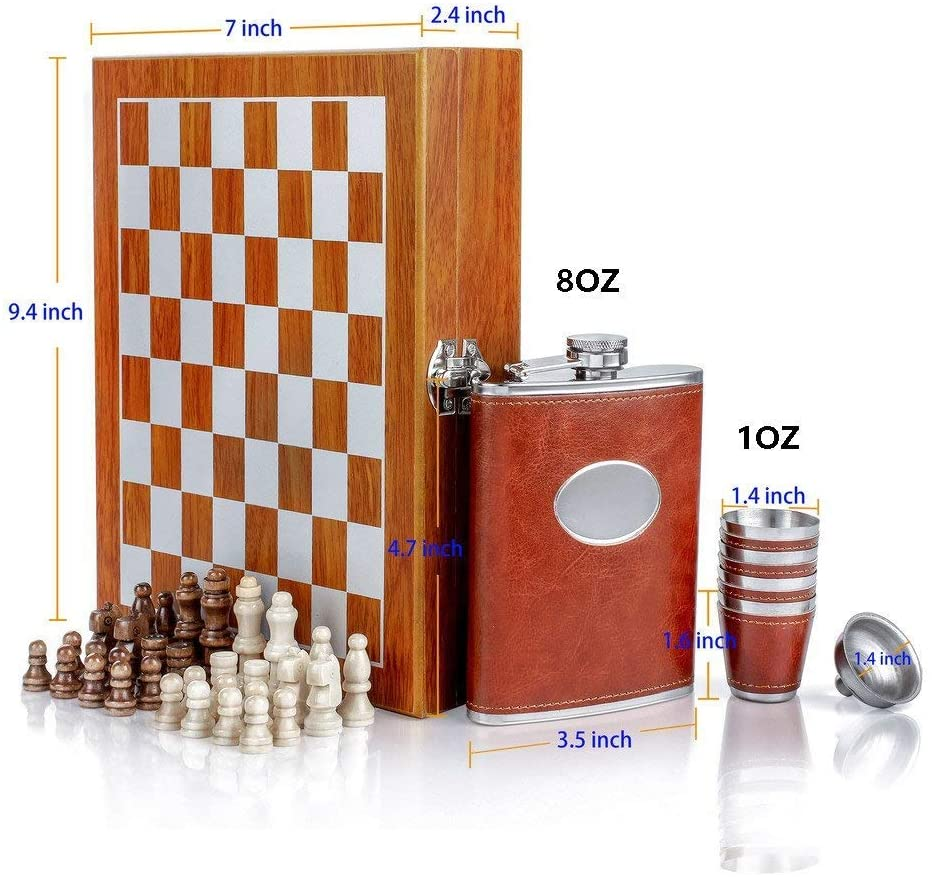 best chess and flask gift