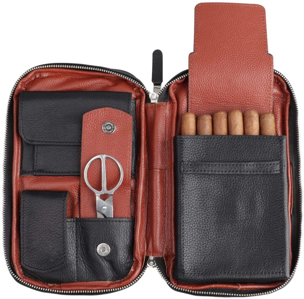 best leather cigar travel case