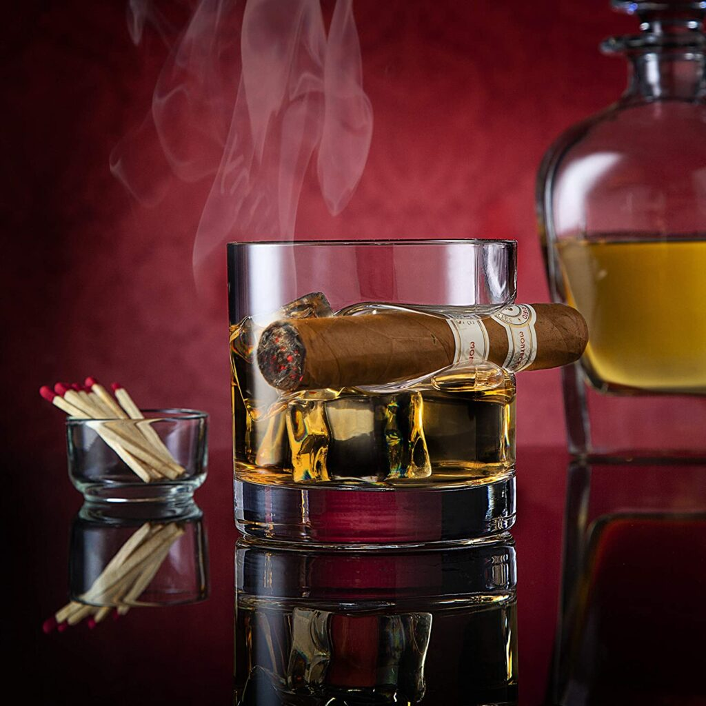 perfect gift for cigar smokers and whiskey drinkers