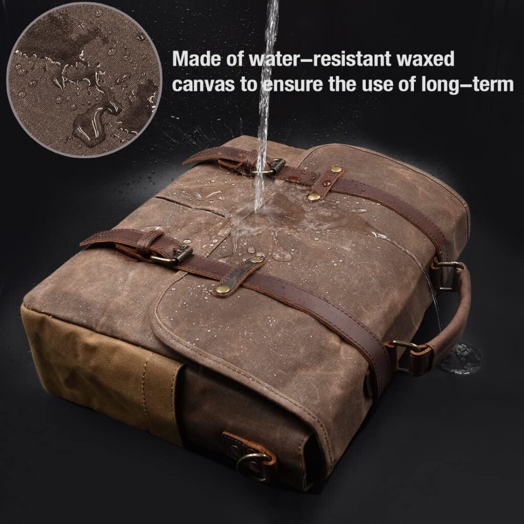 waterproof leather messenger bag