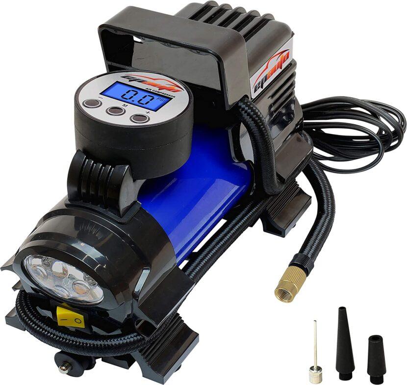 best 12V DC portable air compressor with digital gauge