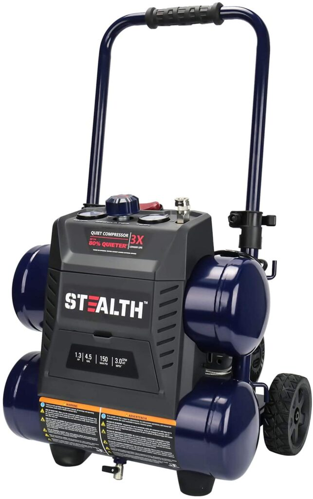 best portable quiet air compressor with wheels