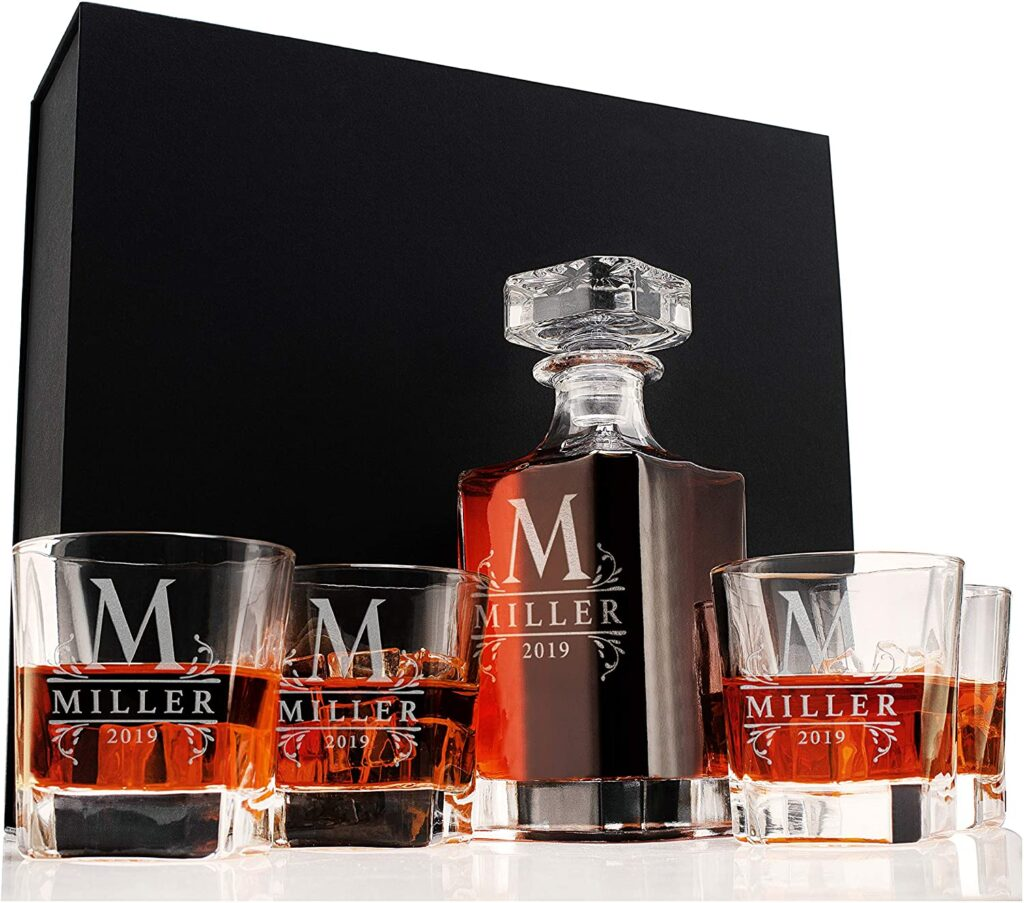 whiskey decanter set personalized