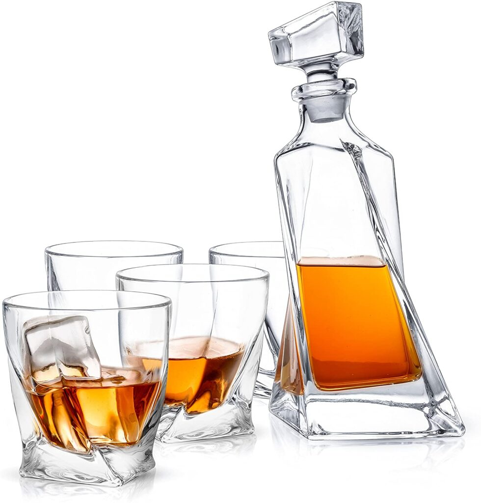 whiskey decanter unique set