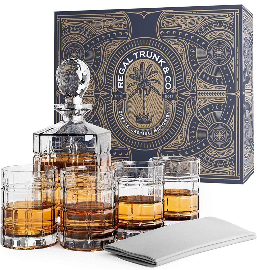 best whiskey decanter set for gift