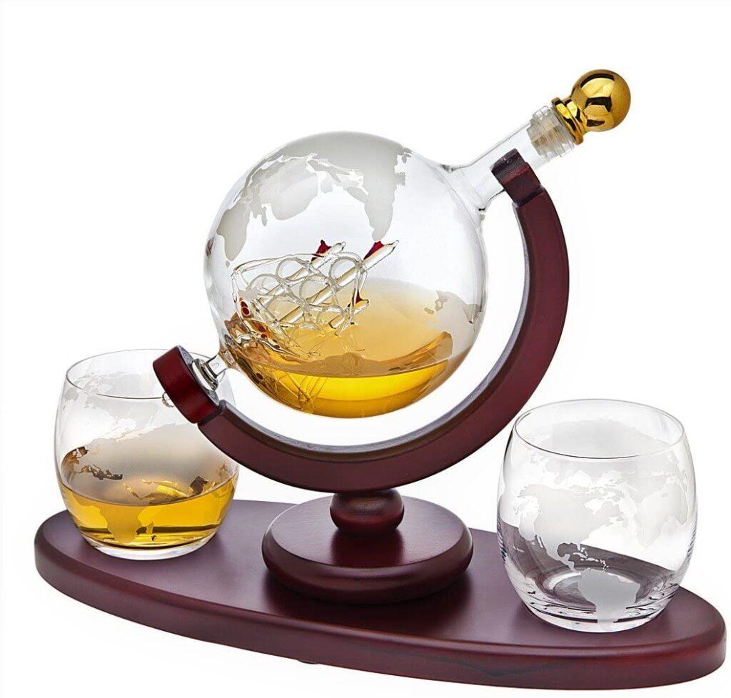 whiskey decanter globe