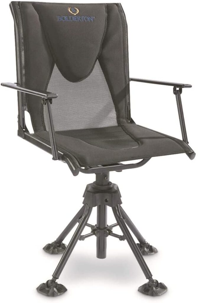best swivel hunting blind chair with armrests