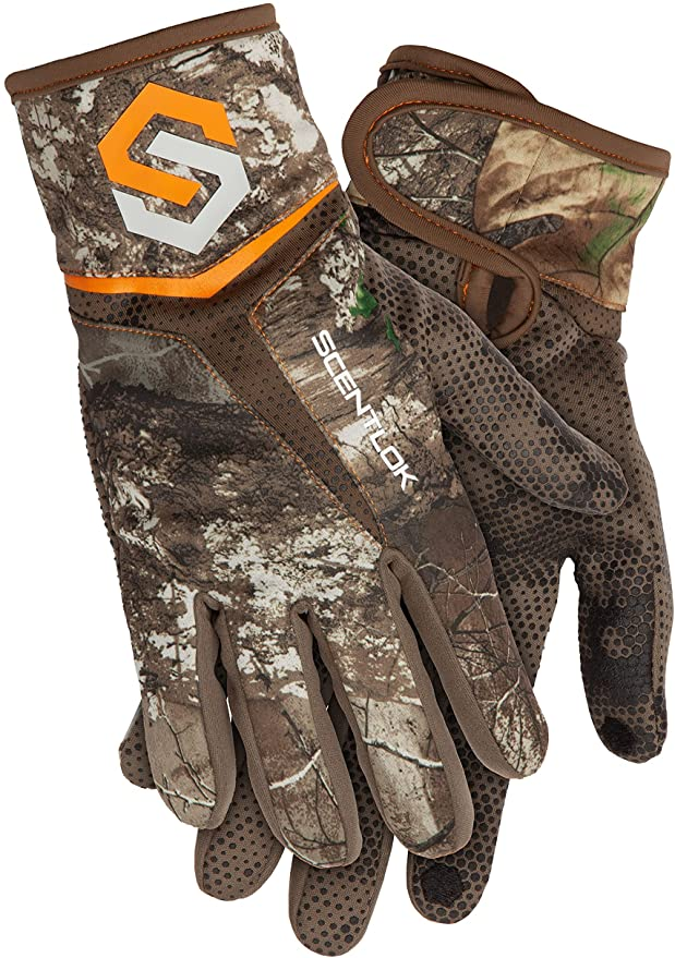 bow hunting gloves with scent block