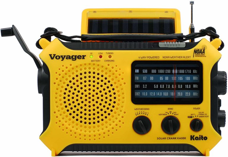 best emergency solar powered radios