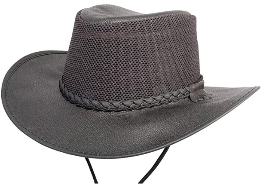 best leather and mesh outdoor hat
