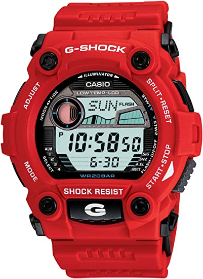 Red G-Shock rescue series watch