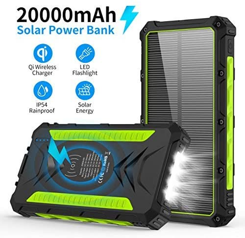 best solar charger qi-wireless power bank
