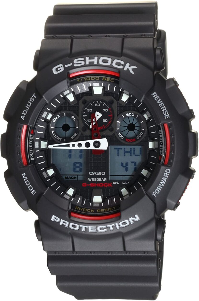 black and red G-Shock
