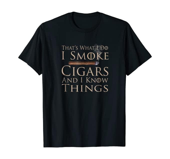 funny cigar smoking shirt