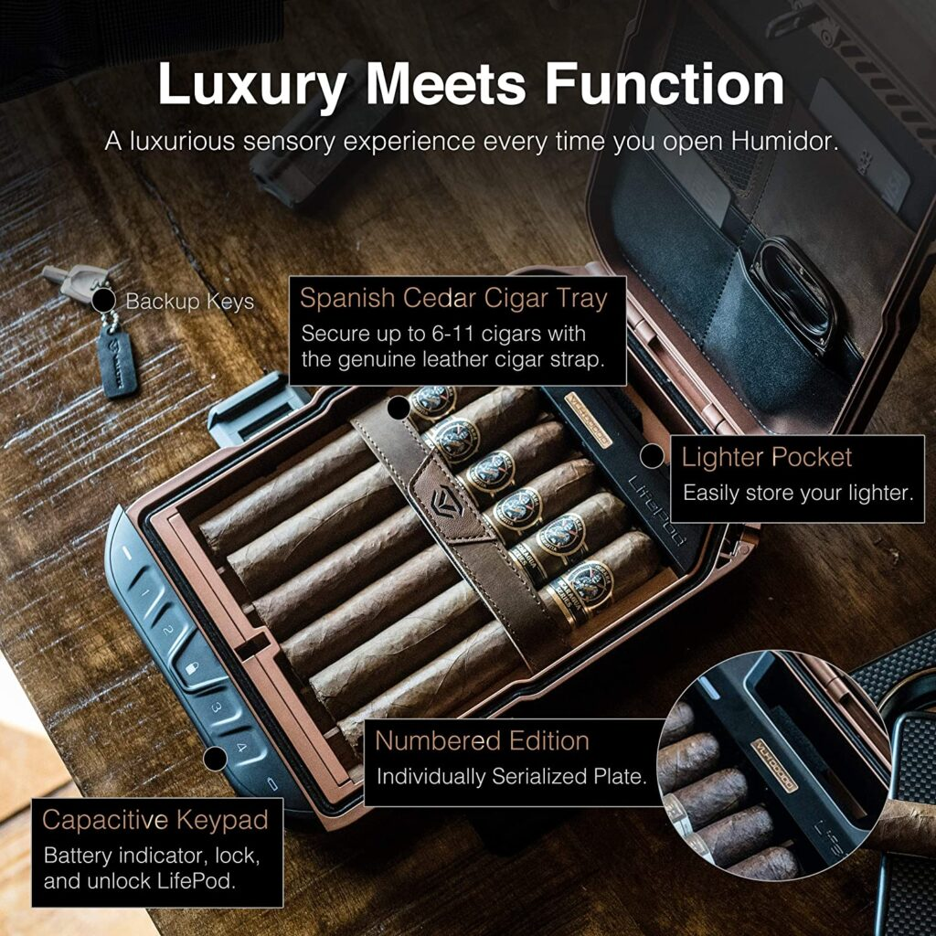 best leather portable cigar humidor
